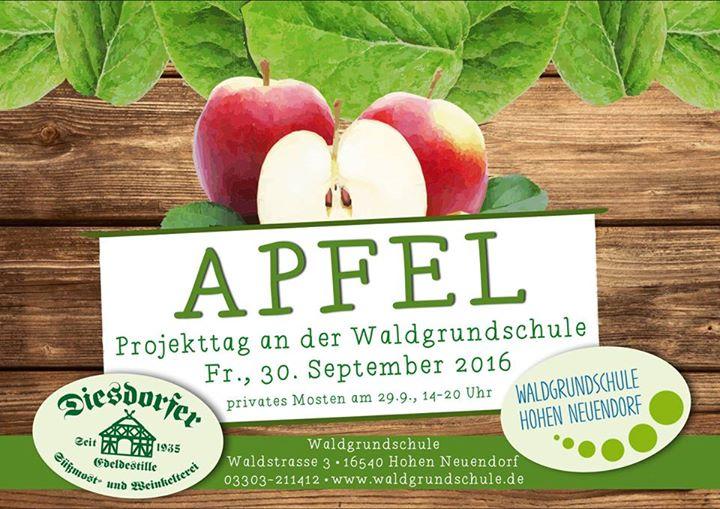 Apfel-Projekttag an der Waldgrundschule  Was ist alles im Apfelsaft drin?  Warum…