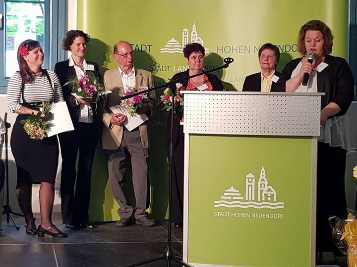 Beim Stadtempfang in Hohen Neuendorf stand heute Abend die Verleihung der Ehrena…