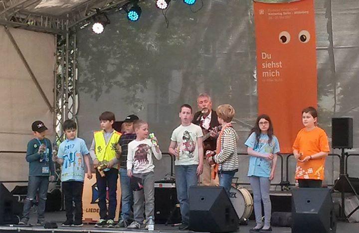 Waldgrundschüler zu Besuch auf dem Kirchentag im Kinderzentrum Berlin  Trotz des…