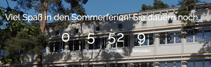 Der Countdown auf unserer neuen Homepage…