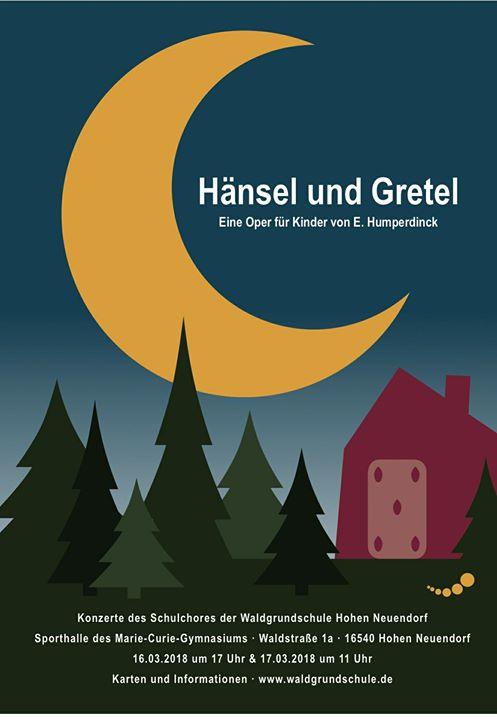 """Im März 2018 führt unser Schulchor die Oper """"Hänsel und Gretel"""" von E. Humperdin…"""
