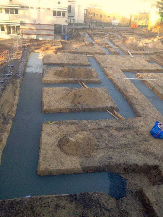 Langsam wird der Grundriss unseres Neubaus sichtbar: